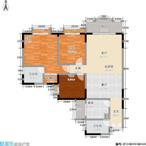 康德27度生活空间3室0厅2卫1厨109.00㎡户型图