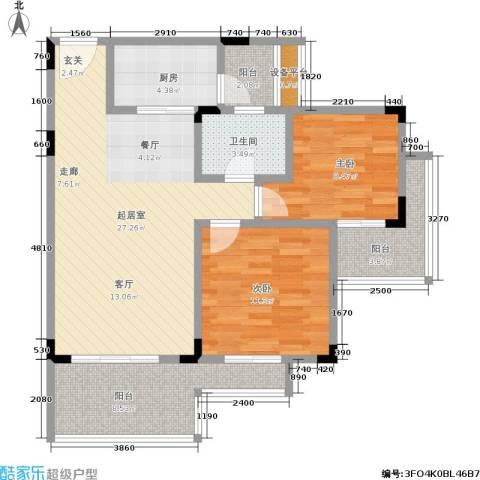 金佛美庐2室0厅1卫1厨101.00㎡户型图