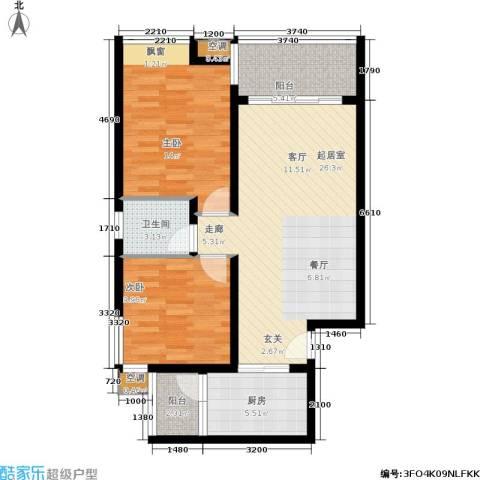 金杜洋光2室0厅1卫1厨98.00㎡户型图