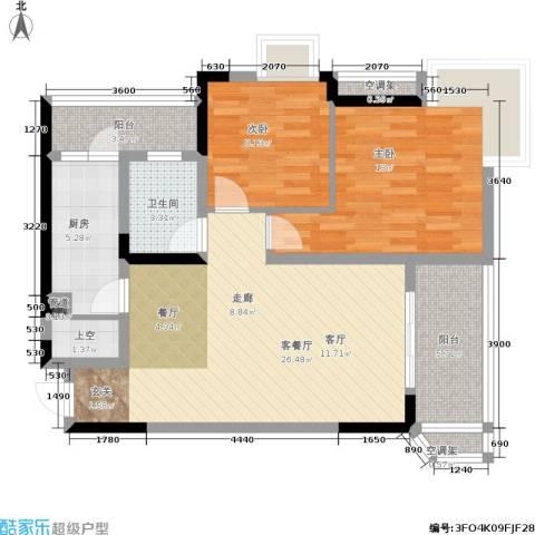 俊峰龙凤云洲2室1厅1卫1厨100.00㎡户型图