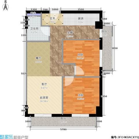 远见名苑2室0厅1卫0厨88.00㎡户型图