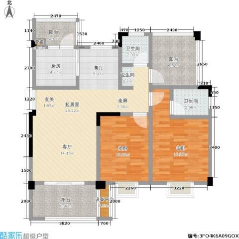 壹江城C调2室0厅2卫1厨79.59㎡户型图