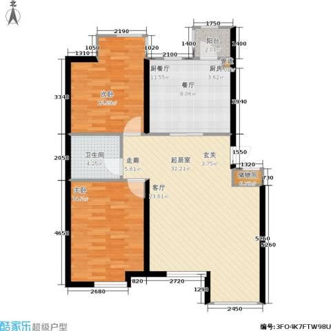 香格里拉2室0厅1卫0厨97.00㎡户型图