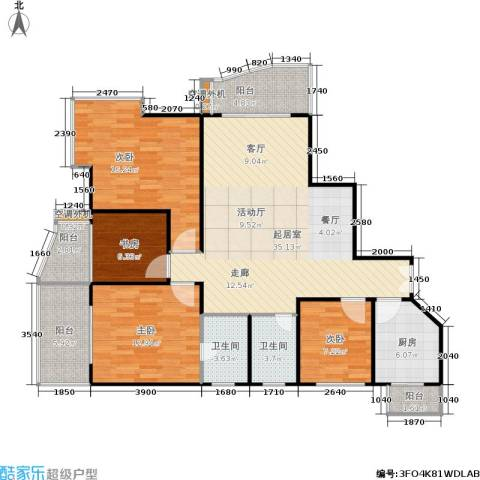 金禾丽都4室0厅2卫1厨116.00㎡户型图
