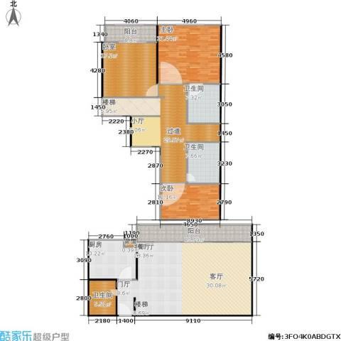 宝润苑2室1厅3卫1厨193.00㎡户型图