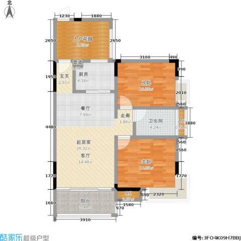 永达缙云峰景2室0厅1卫1厨103.00㎡户型图
