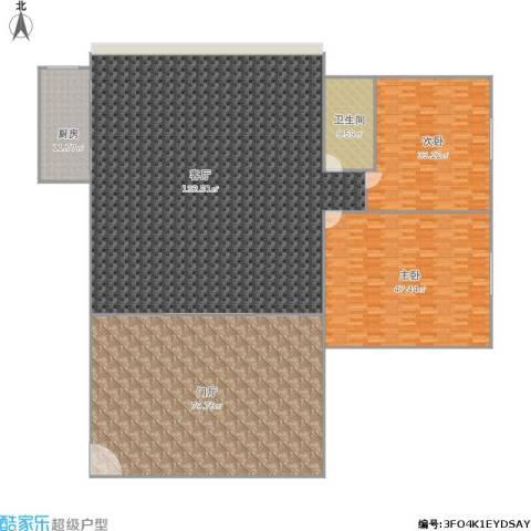 紫东阁2室1厅1卫1厨405.00㎡户型图