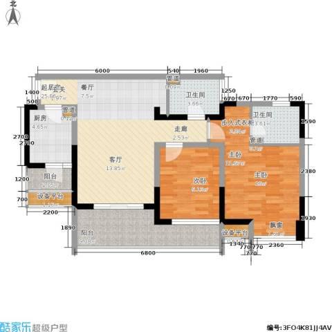 上海城二期2室0厅2卫1厨111.00㎡户型图