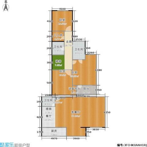 宝润苑1厅3卫1厨208.00㎡户型图