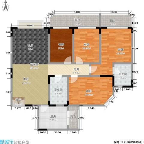 嘉和苑4室0厅2卫1厨173.00㎡户型图