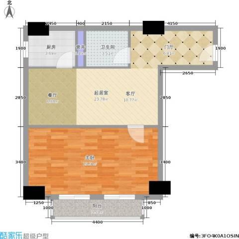 远见名苑1室0厅1卫1厨75.00㎡户型图