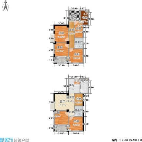都会997室0厅2卫1厨102.82㎡户型图