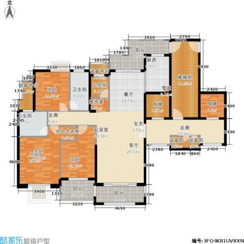 半山御景3室0厅3卫1厨182.90㎡户型图