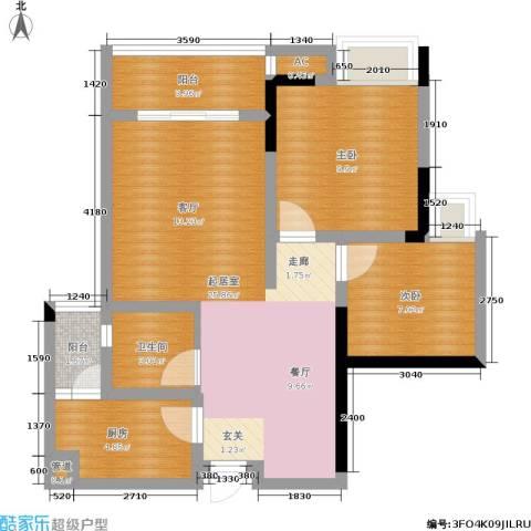 东和城2室0厅1卫1厨84.00㎡户型图