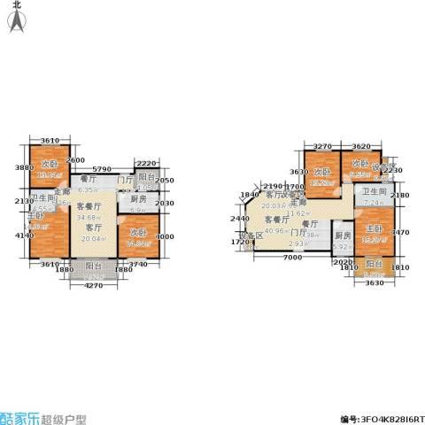 滨江美寓6室2厅2卫2厨200.02㎡户型图