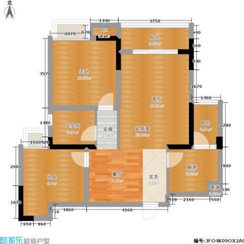 东和城2室0厅1卫1厨96.00㎡户型图