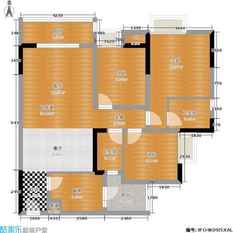 东和城3室0厅2卫1厨91.00㎡户型图