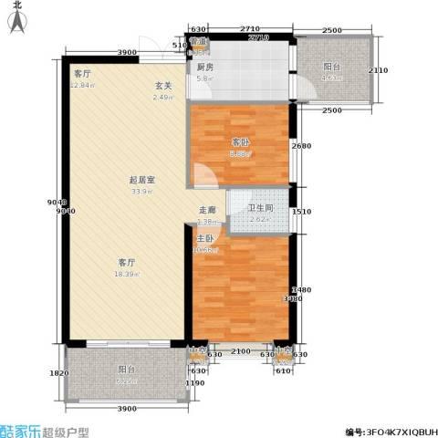hello前城2室0厅1卫1厨92.00㎡户型图