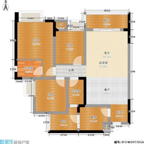 东和城3室0厅2卫1厨119.00㎡户型图