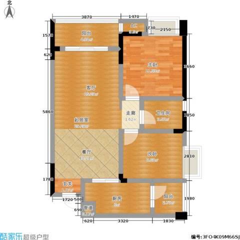 东和城2室0厅1卫1厨71.00㎡户型图