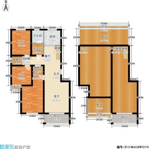 凯旋新城西区3室1厅1卫1厨261.00㎡户型图