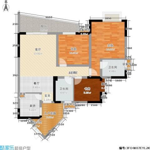 上海城二期3室0厅2卫1厨140.00㎡户型图