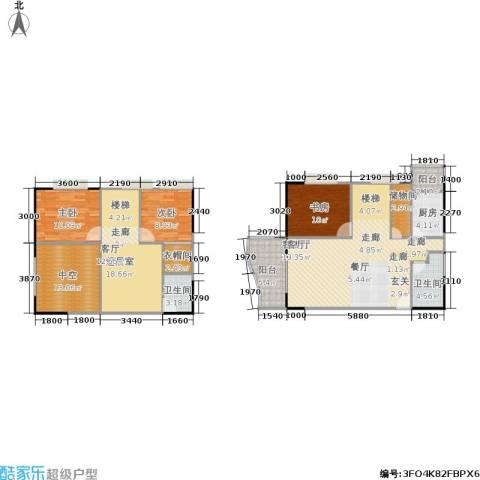 聚维书香世家3室1厅2卫1厨119.09㎡户型图