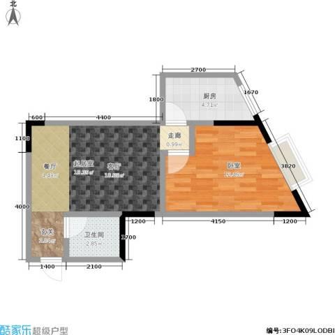 金江大厦1卫1厨44.00㎡户型图