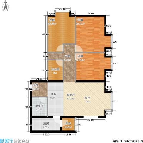 北京上舍3室1厅2卫1厨126.00㎡户型图