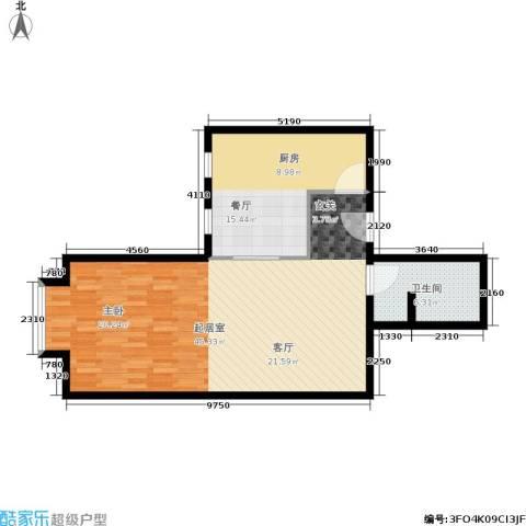 北京上舍1厅1卫0厨74.00㎡户型图