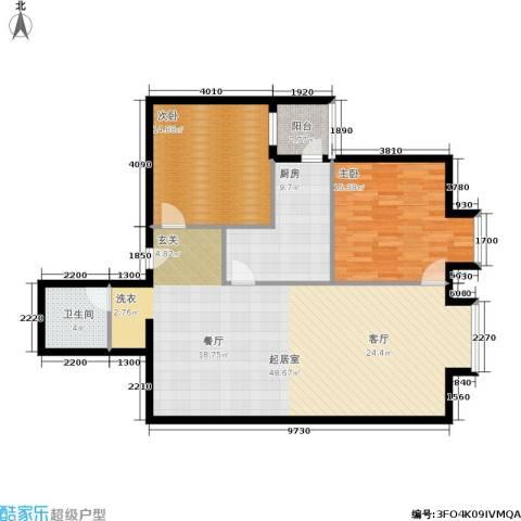 北京上舍2室0厅1卫1厨105.00㎡户型图
