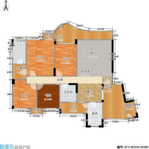 长安丽都4室0厅2卫1厨141.80㎡户型图