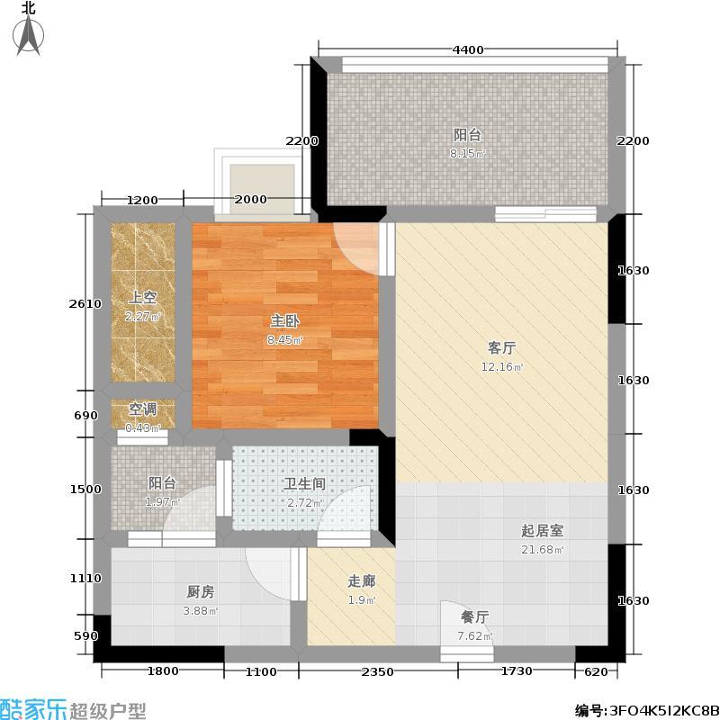 广厦城蜜宫59.00㎡一室两厅双阳台 套内面积49.00平米户型1室2厅1卫