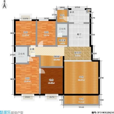 汇中沁园4室1厅2卫1厨201.00㎡户型图