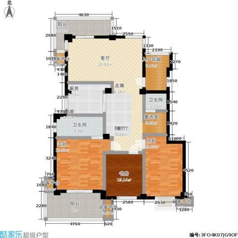 湖滨1号3室1厅2卫1厨172.00㎡户型图