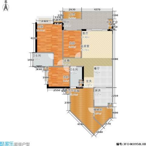 富力海洋广场3室0厅2卫1厨172.00㎡户型图