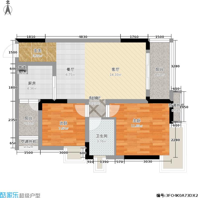 俊峰龙凤云洲64.58㎡房型户型