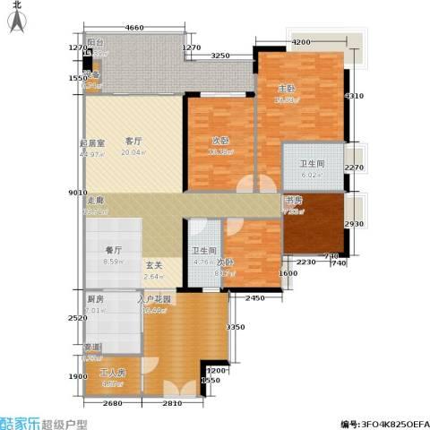 富力海洋广场4室0厅2卫1厨148.33㎡户型图