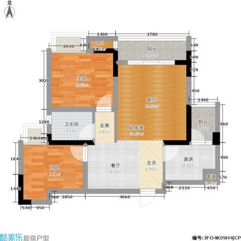 东和城2室0厅1卫1厨73.00㎡户型图