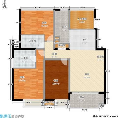 茂华国际湘3室0厅2卫0厨167.00㎡户型图