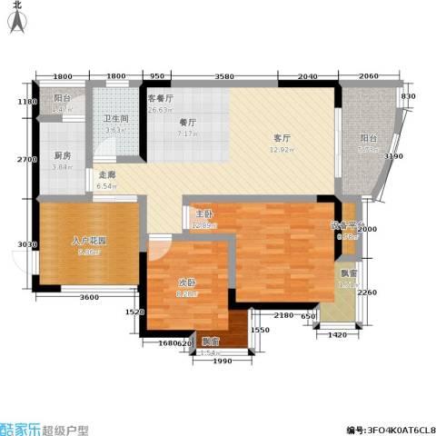 新城丽园2室1厅1卫1厨112.00㎡户型图