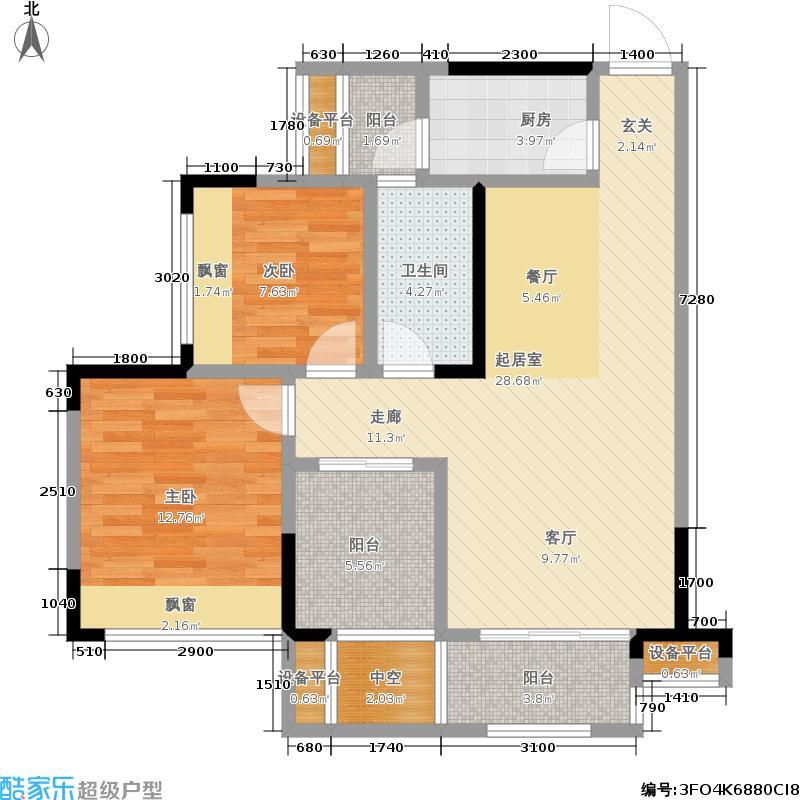 融汇半岛五园湾67.09㎡融汇半岛五园湾户型图B9-1套内67.09平米(7/15张)户型10室