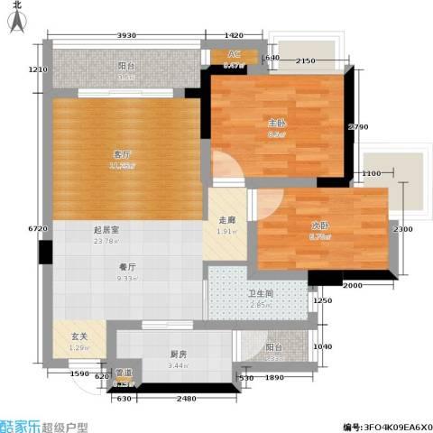 东和城2室0厅1卫1厨66.00㎡户型图