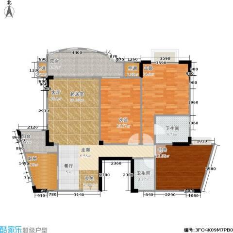 长安丽都3室0厅2卫1厨100.31㎡户型图