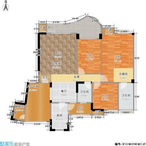 长安丽都3室0厅2卫1厨126.32㎡户型图