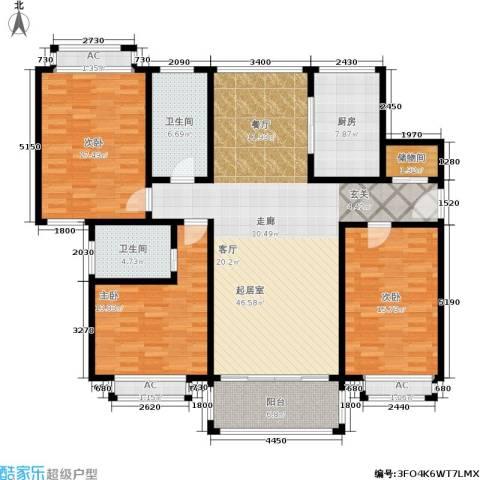 龙柏城市花园3室0厅2卫1厨177.00㎡户型图