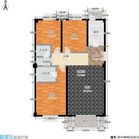 安德馨居3室0厅2卫1厨127.00㎡户型图