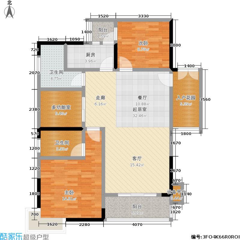 民生新城2号楼/4号户型2室2卫1厨