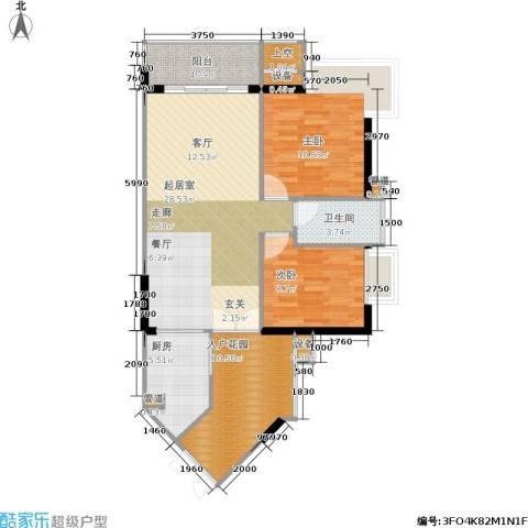 富力海洋广场2室0厅1卫1厨74.83㎡户型图
