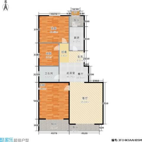 天天家园3室0厅1卫1厨146.00㎡户型图